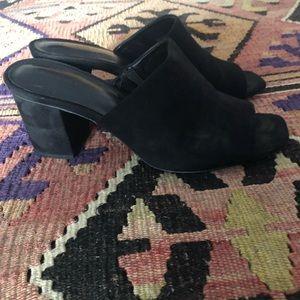 Zara faux suede mules